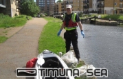 Canal clean up, Scuba Diving Santa